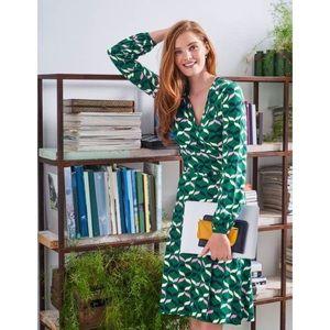 Boden Elodie Print Jersey Wrap Dress